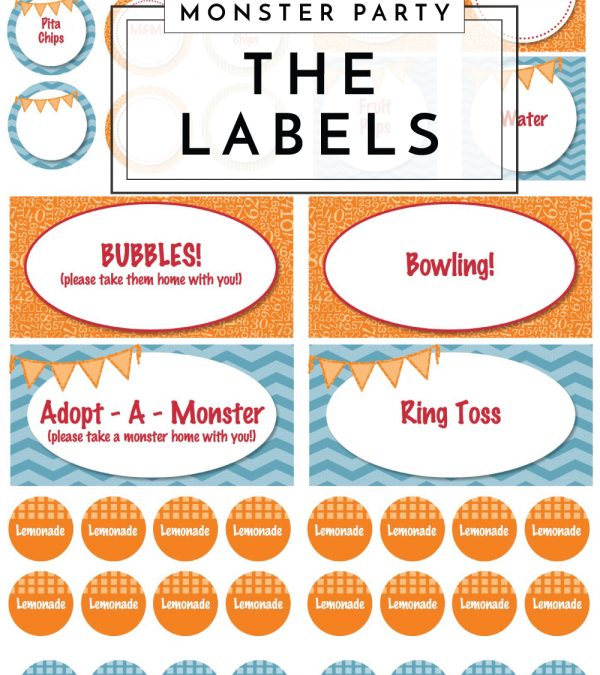 Monster of a First Birthday Party | The Labels