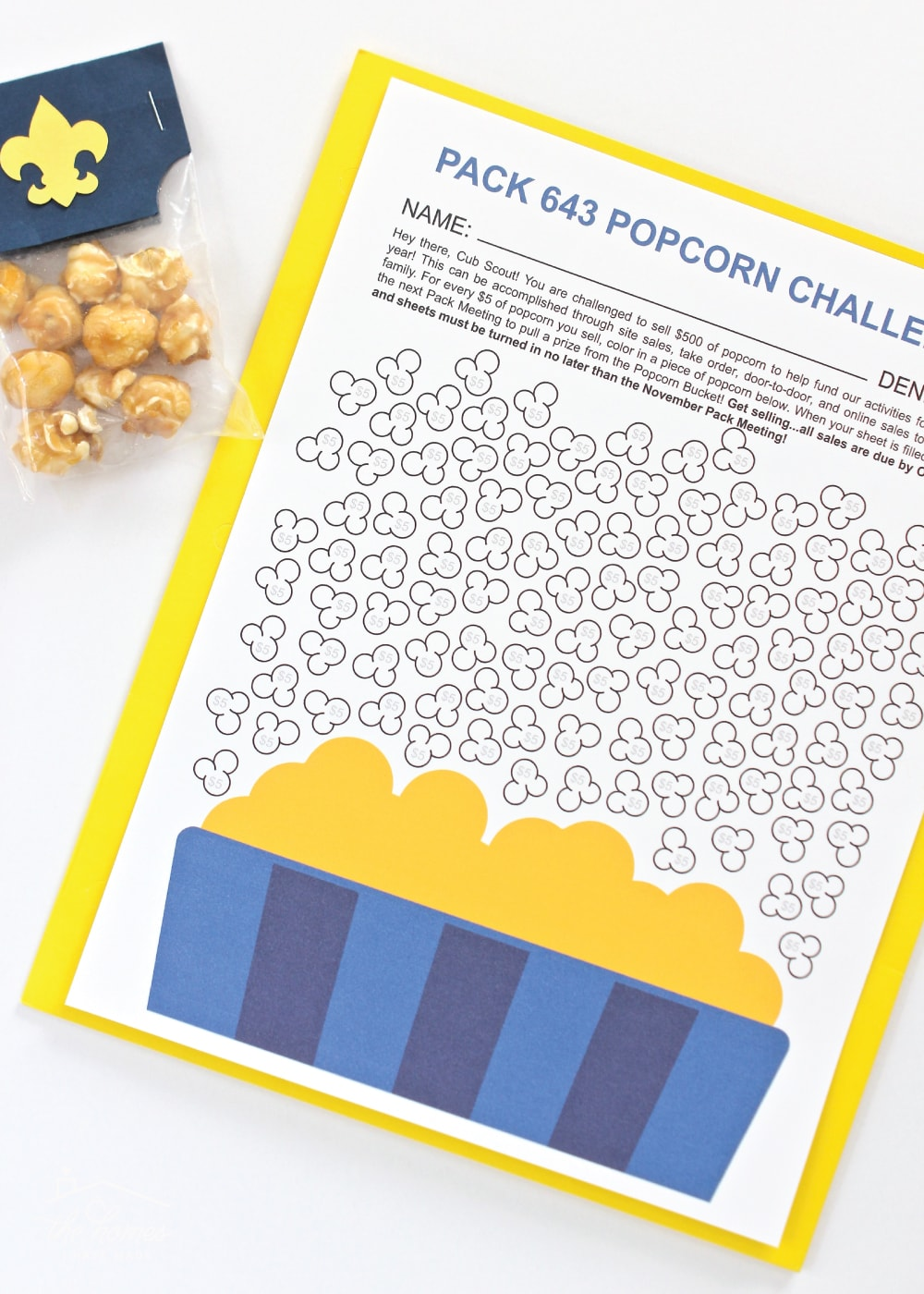 photo about Cub Scout Printable named Cub Scout Popcorn Jobs (In direction of Support Oneself Offer Further Popcorn