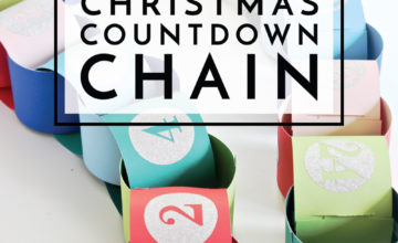 Countdown the days until Christmas (and do some fun holiday activities along the way!) with this easy DIY Christmas Countdown Chain!