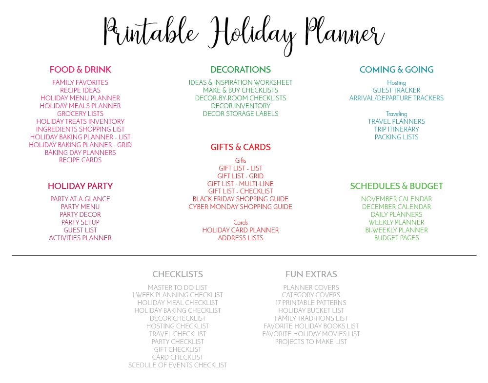 image relating to Printable Christmas Card List referred to as Refreshing in the direction of The Company Toolbox: Printable Vacation Planner