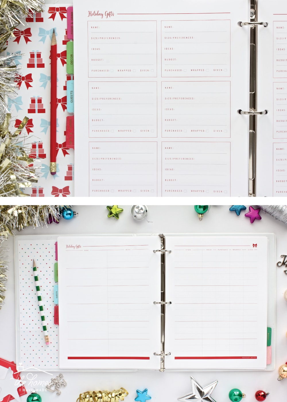 Get ready to have your most organized Christmas ever with this comprehensive, fully editable, mix-and-match Printable Holiday Planner!