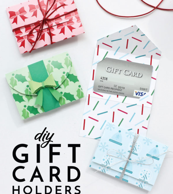 It's easy to make your own DIY Gift Card Holders with double-sided cardstock and this printable template! Your gift cards never looked so good!