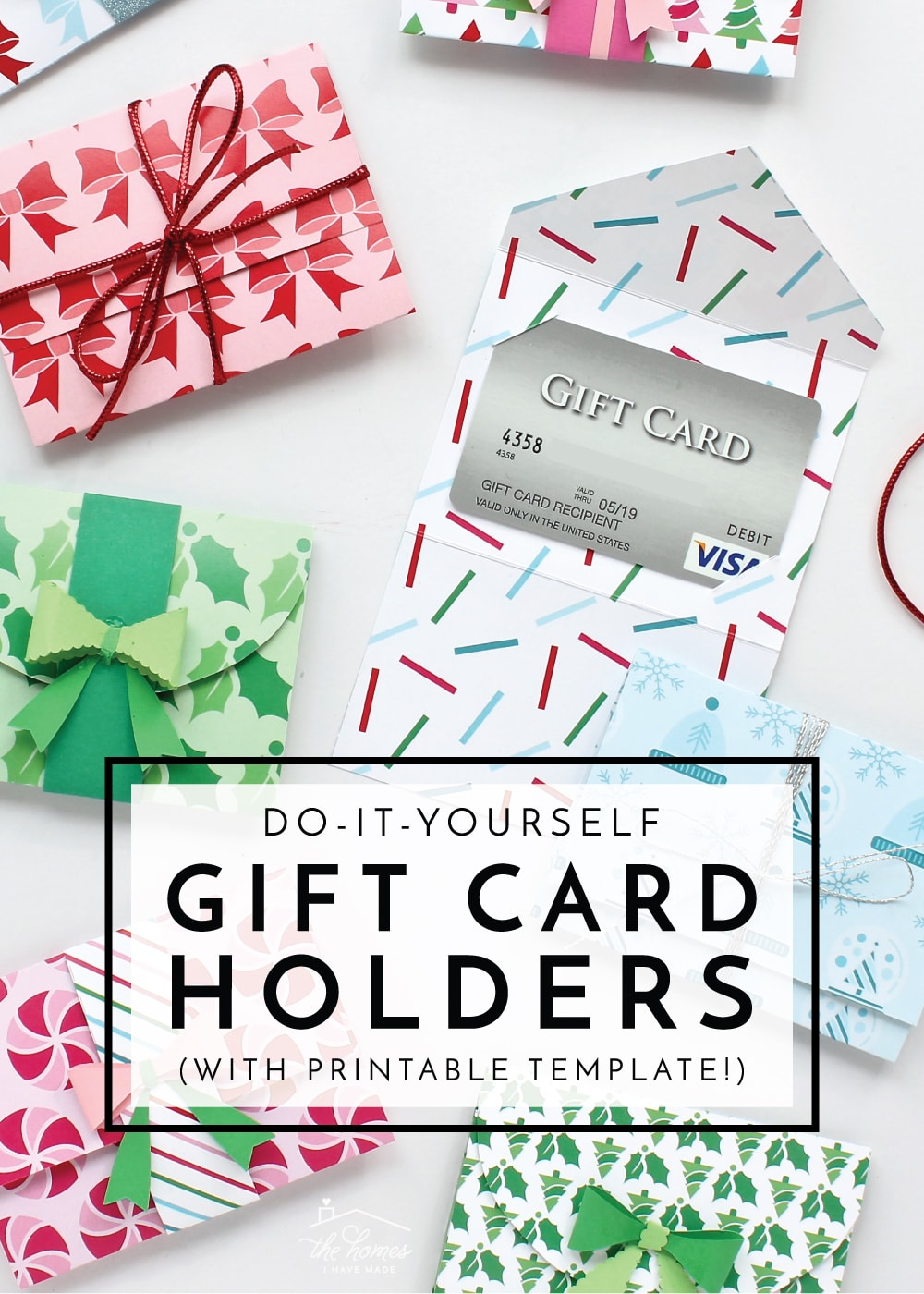 photo regarding Free Printable Gift Card Holder Templates referred to as Do-it-yourself Present Card Holders (with Printable Template!) The Residences