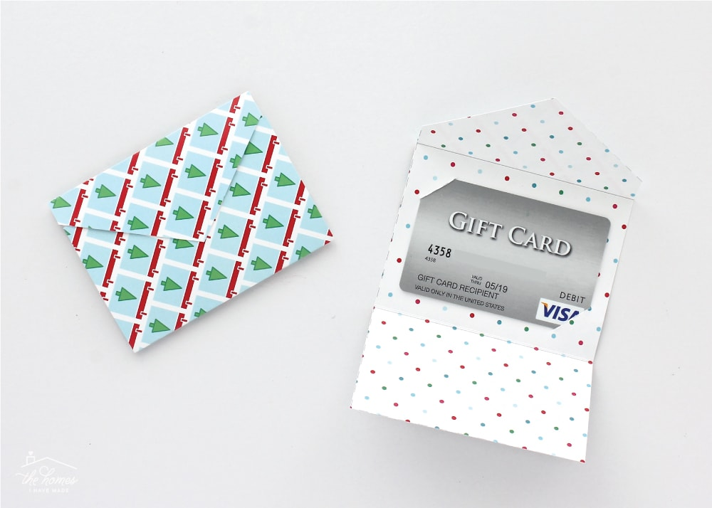 Diy Gift Card Holders With Printable Template The Homes I Have Made