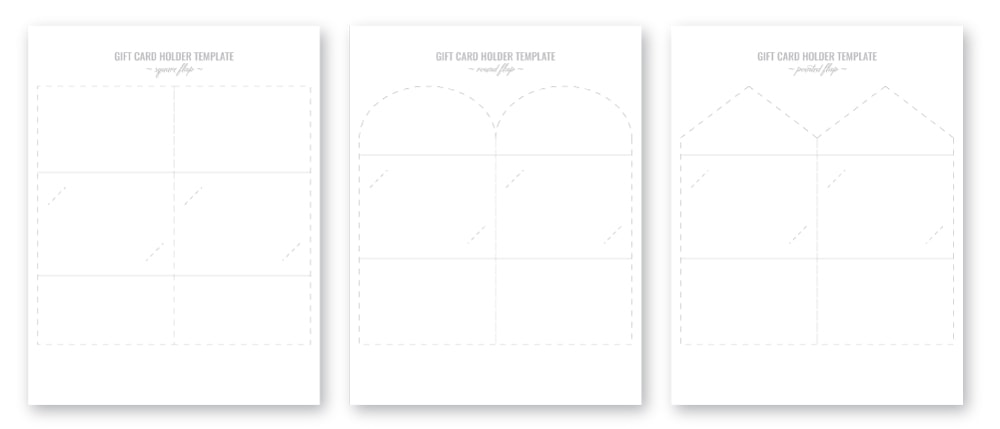graphic relating to Free Printable Gift Card Holder Templates known as Reward Card Holder Template Printable - Reward Designs