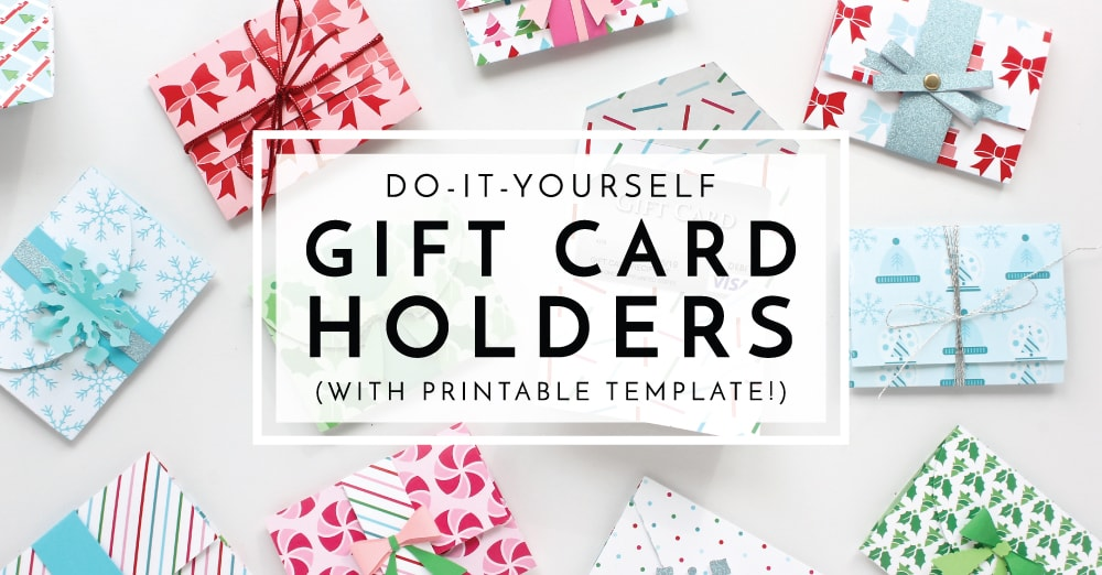 DIY Digital Template in Photoshop Format Printable Gift Card Holder Template 0027-2.25x3.5 Commercial Use OK Instant Download