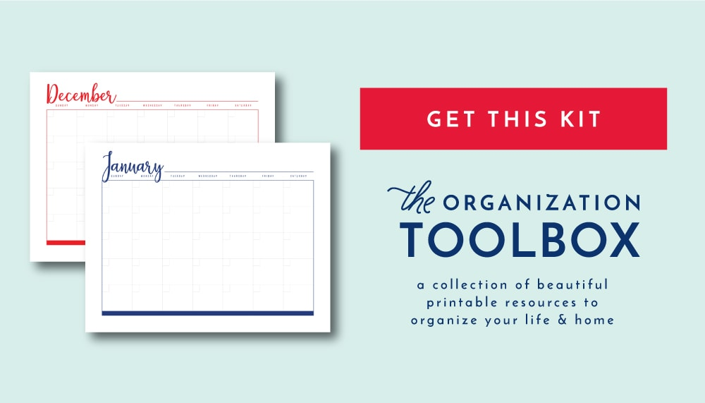 new to the organization toolbox printable calendar pages the