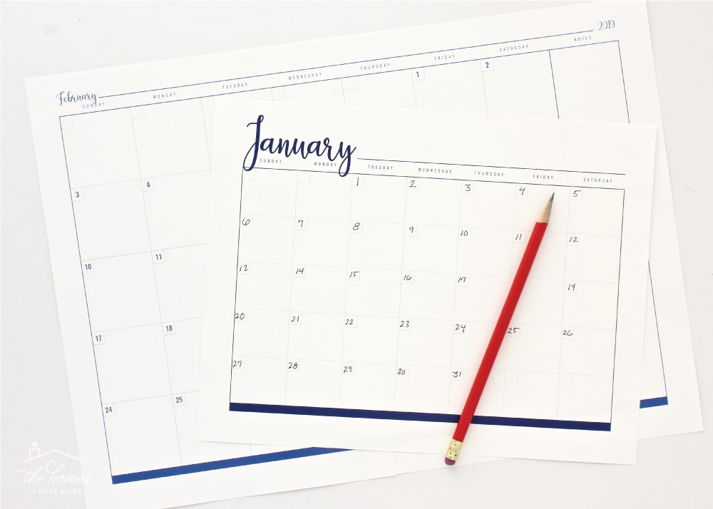 Plan out any event, task, vacation or your daily schedule with these gorgeous printable calendar pages!
