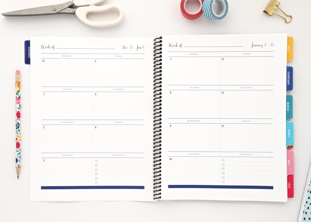 These editable, changeable. mix-&-match Printable Planner Pages (featuring daily, weekly and monthly options!) provide ultimate flexibility for your planning needs!