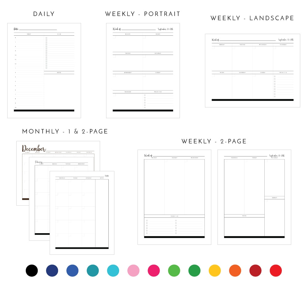 graphic regarding Weekly Planner Page named Fresh in the direction of The Business enterprise Toolbox: Printable Planner Webpages