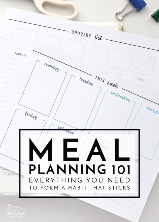 Save time, stress and money with weekly meal planning! This post breaks down everything you need to know to create a habit that sticks for good!