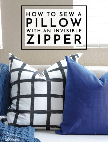 How to Sew a Pillow with an Invisible Zipper