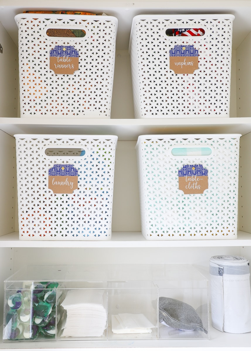 Are you stuck with a tight laundry space? Try these smart solutions for organizing a small laundry room!