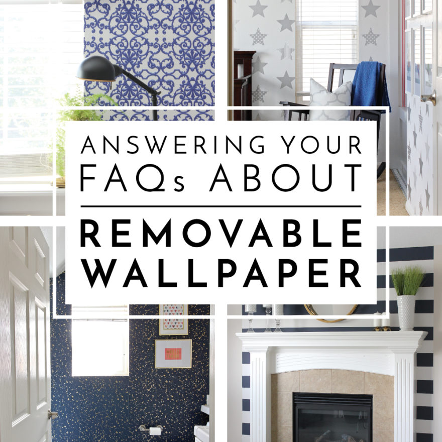 Wondering if removable wallpaper techniques really work? I'm answering all your FAQ about putting removable wallpaper on your walls!