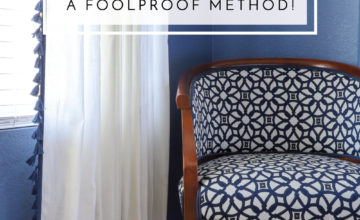 Need to hem your curtains but don't know how? Try this foolproof method to getting the length right every time!