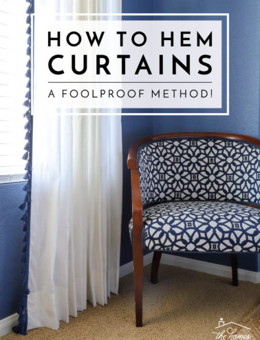 How to Hem Curtains