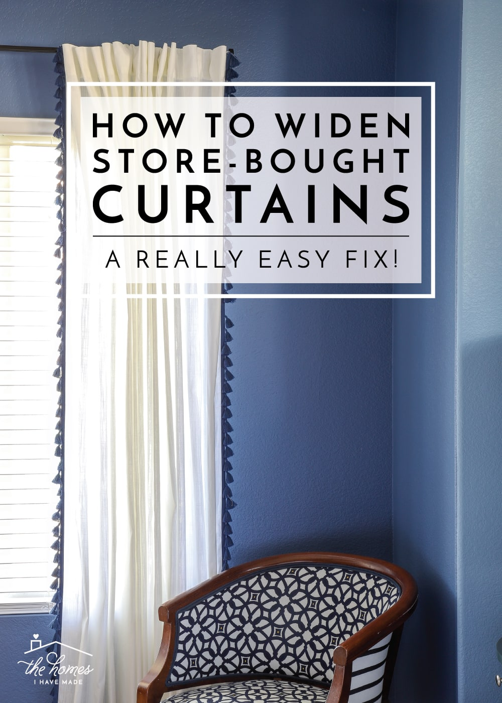How to Widen Store-Bought Curtains