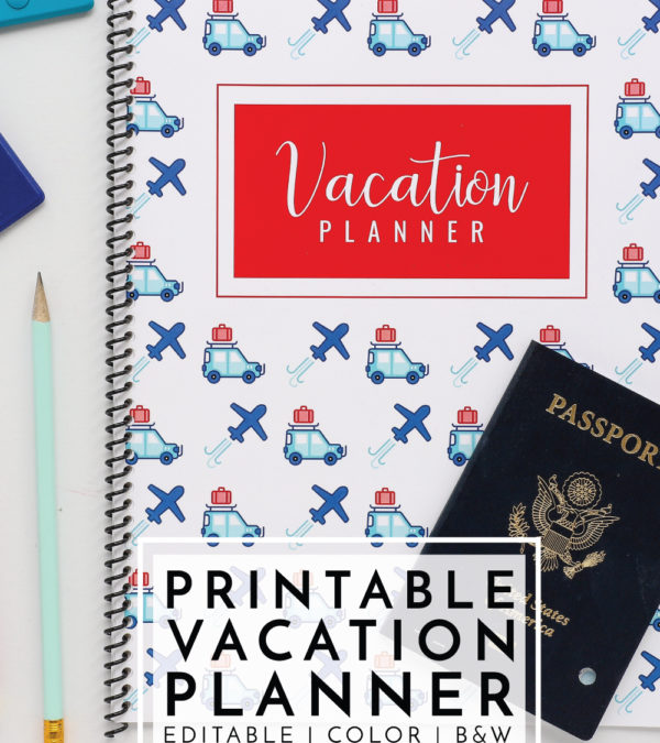 Organize, plan and track every last detail of your next vacation with this 50-page Printable Vacation Planner!