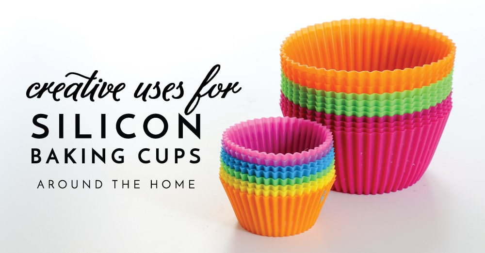 Silicon baking cups can be used for so much more than baking! Check out these creative uses for silicon baking cups around your home!