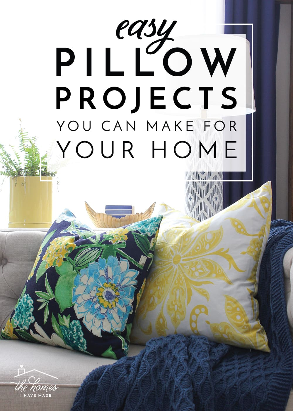 Pillows are one of the easiest ways to decorate or refresh your home, AND they are super simple and fun to make! Check out these easy DIY pillow projects you can make for your own home!