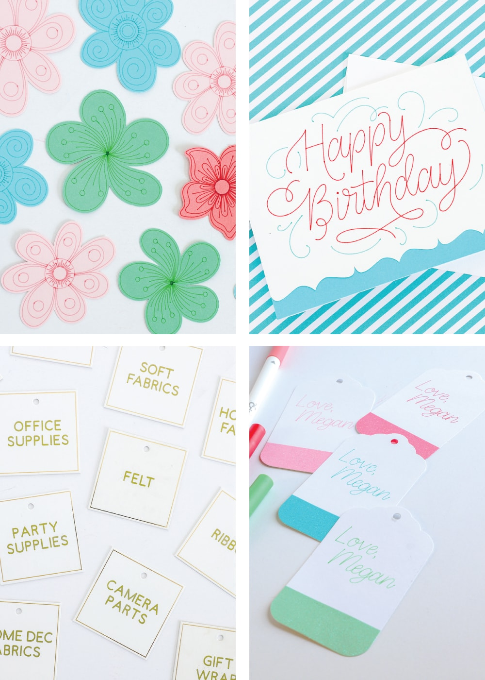 examples of different projects you can make using a cricut machine