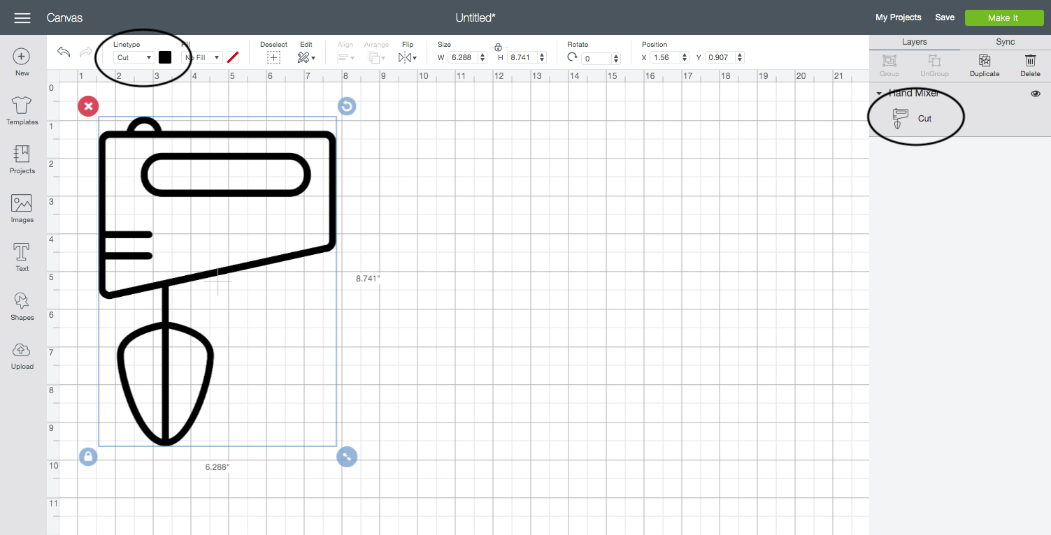 screenshot of the cricut design studio interface with examples of different icon designs.