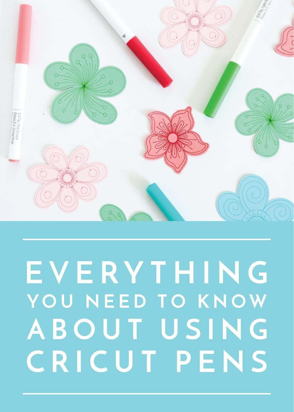 how to use Cricut pens
