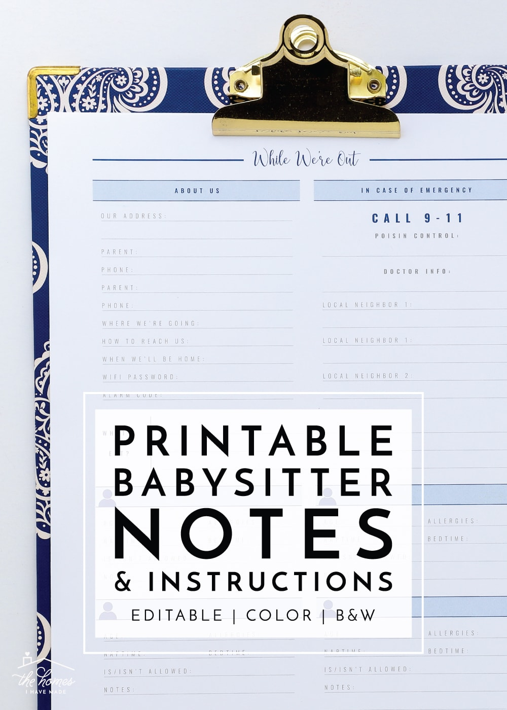 image about Printable Notes referred to as Contemporary towards The Small business Toolbox: Printable Babysitter Notes