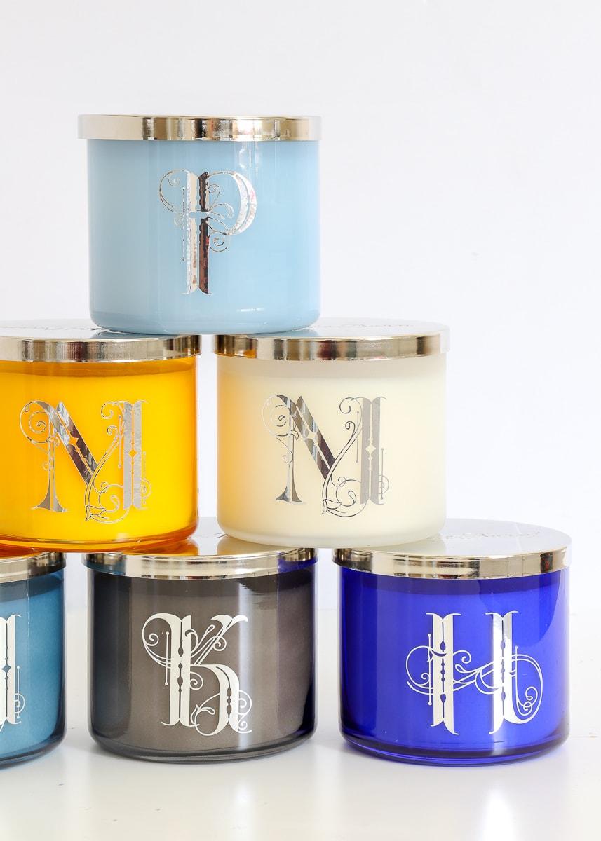 DIY Monogrammed Candles