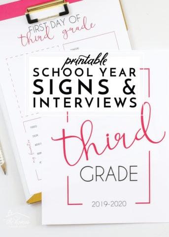 school year signs