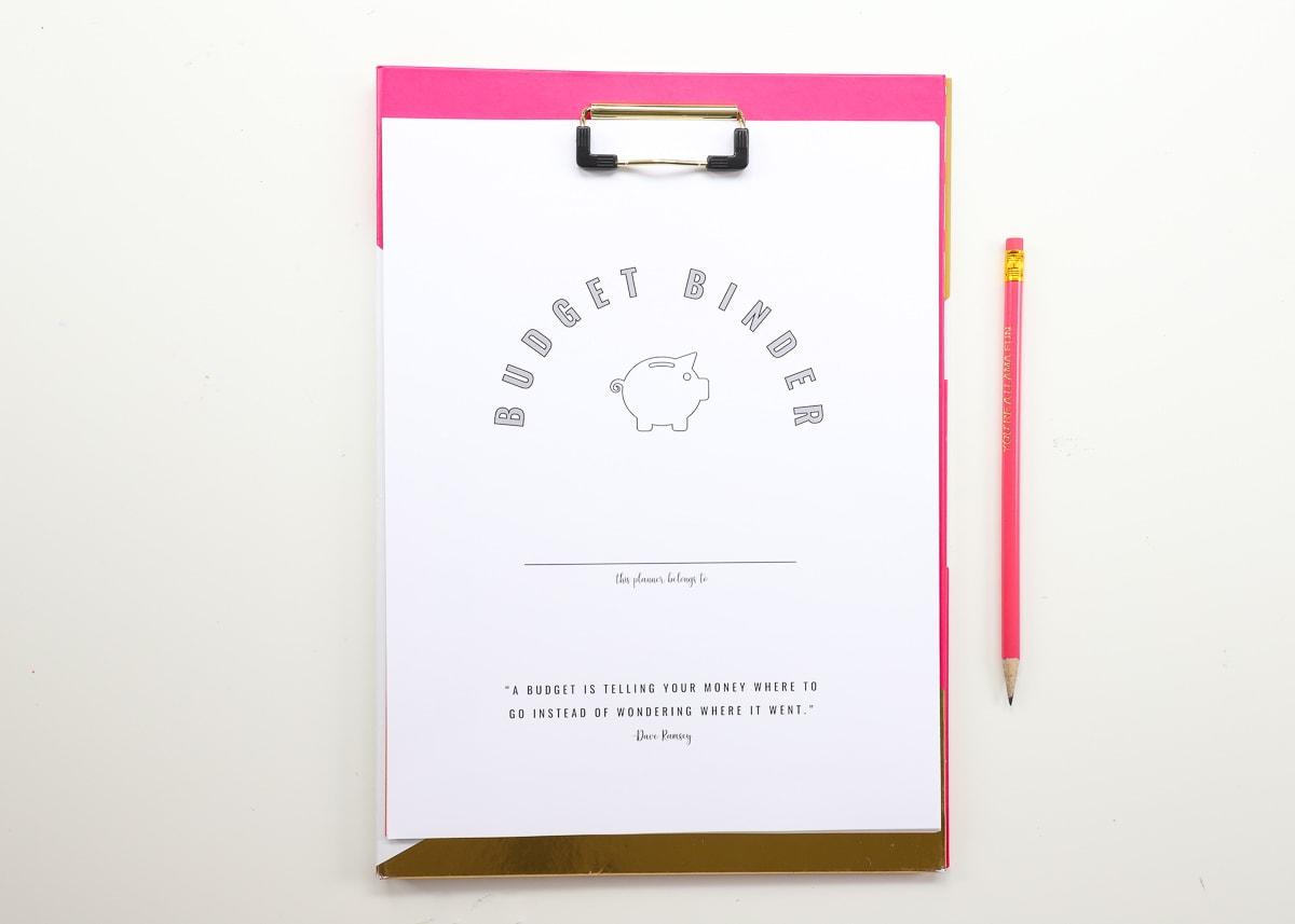 Printable Budget Binder