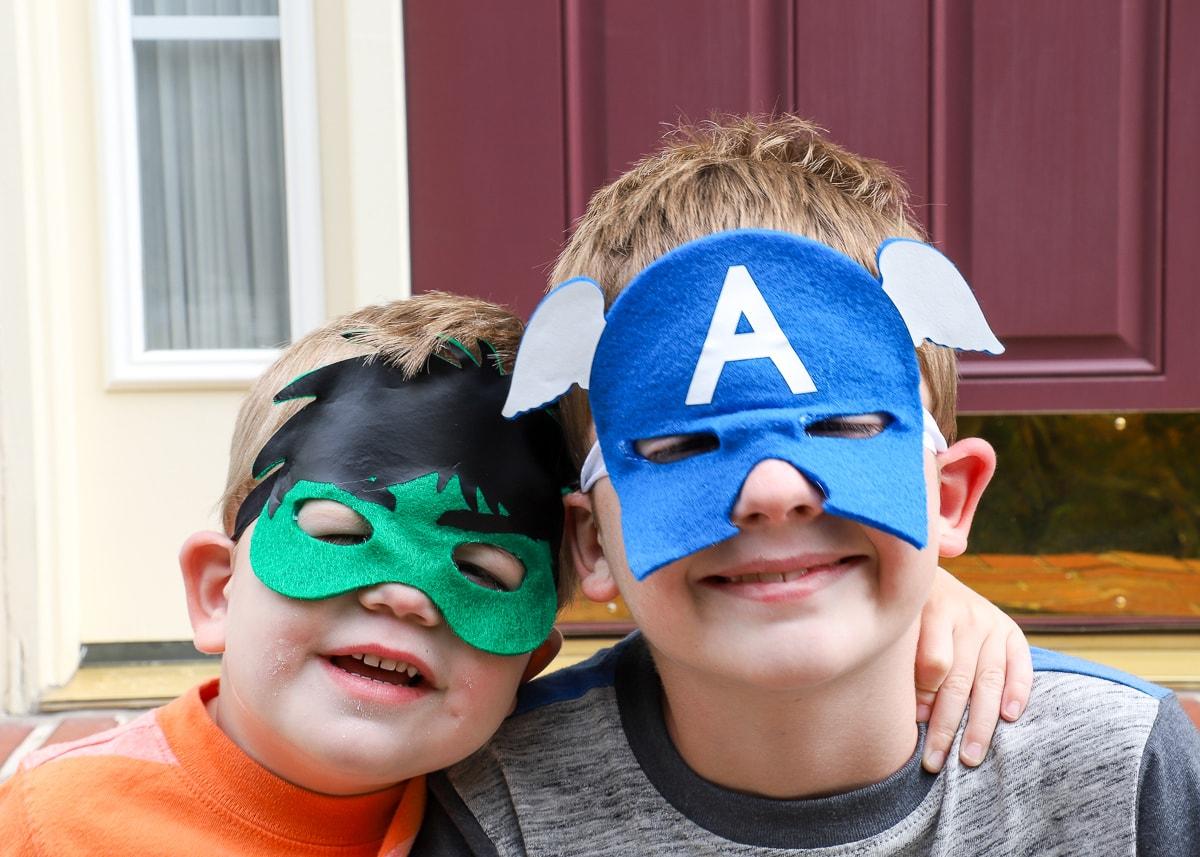 DIY Super Hero Masks