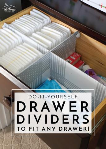 Easy DIY Drawer Dividers