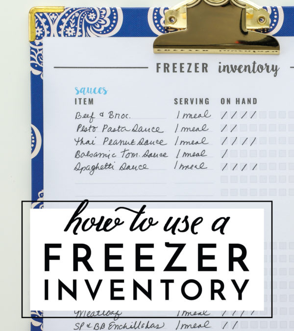 How to Use a Freezer Inventory