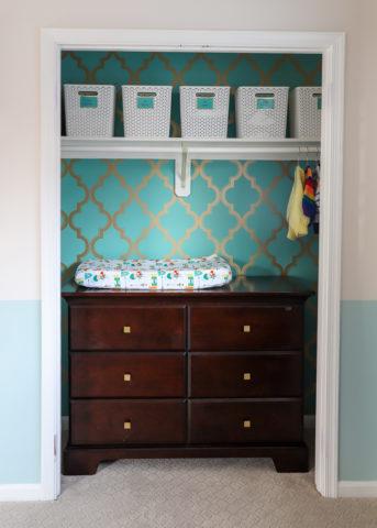 Functional Nursery Closet