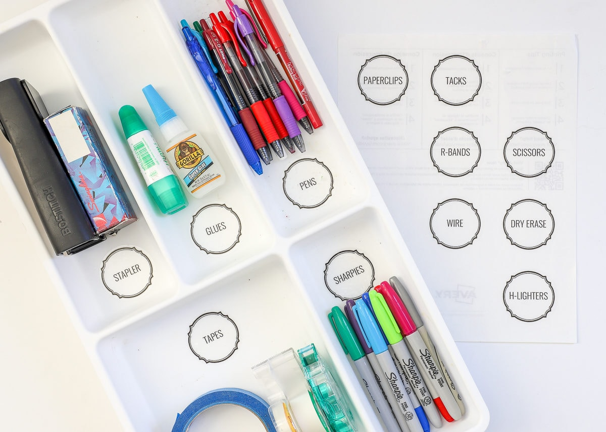 Printable labels are some of the best supplies for making labels!