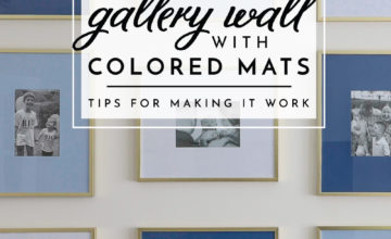 Gallery Wall with Colored Mats