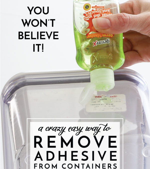 Remove Glue from Containers