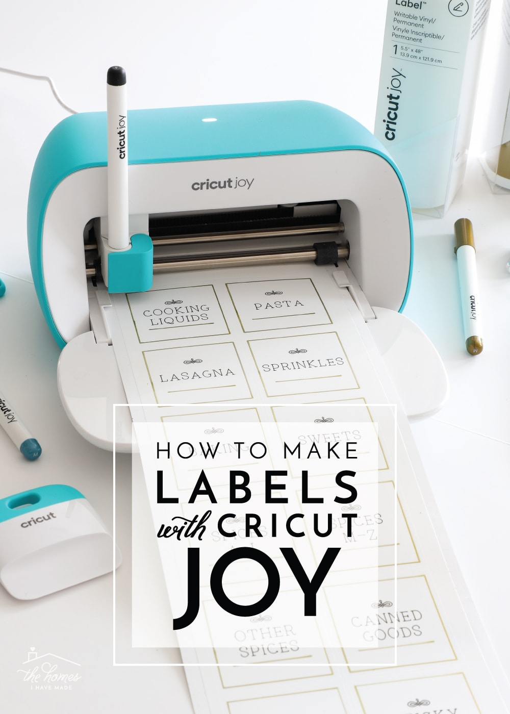 How to Make Labels with Cricut Joy