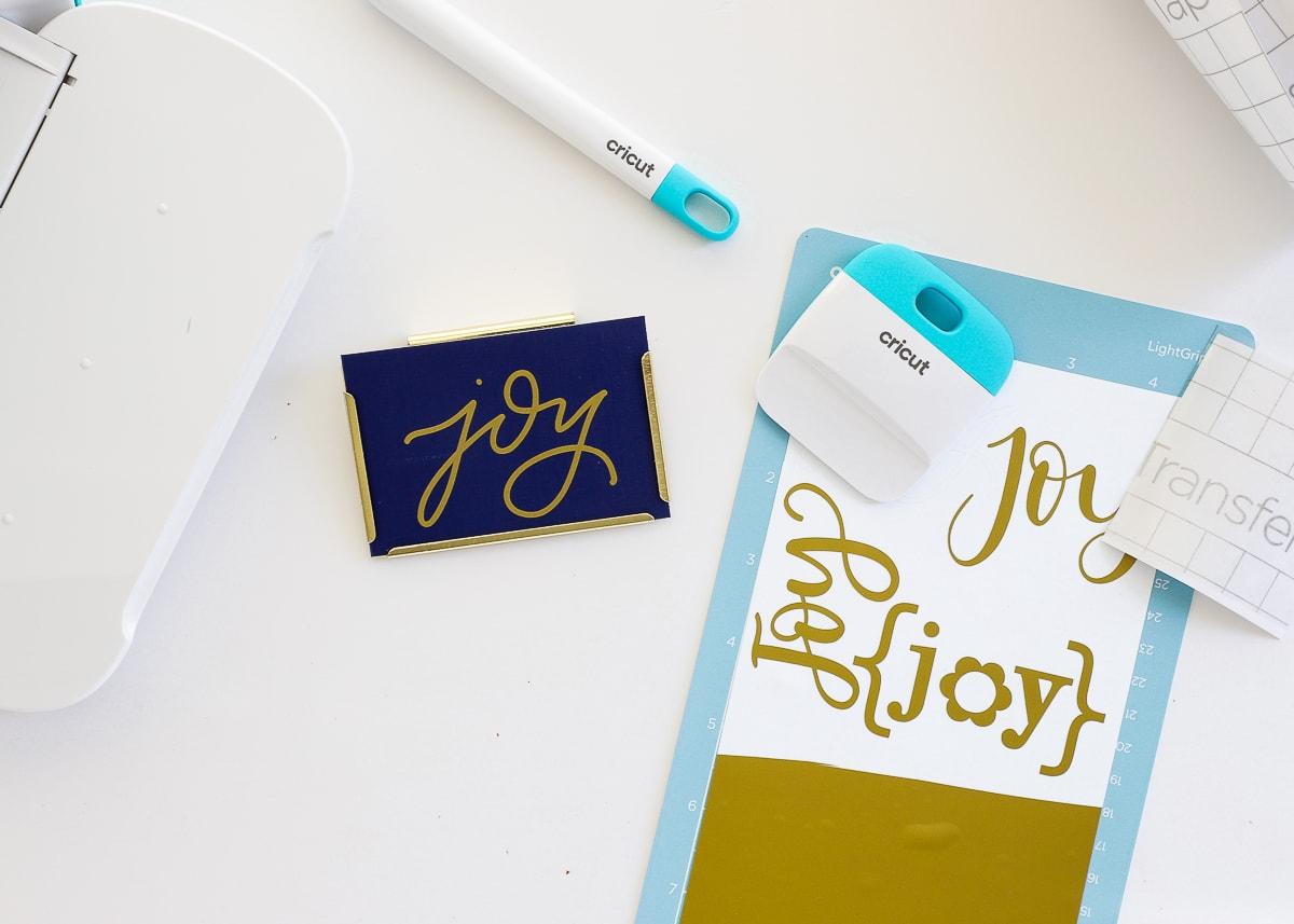 cricut joy labeling project
