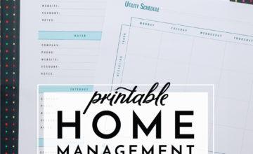 Home Management Worksheets