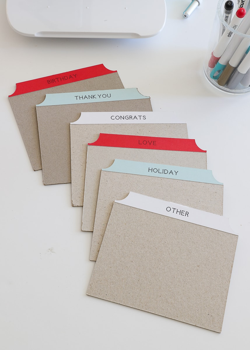 DIY Card Organizer