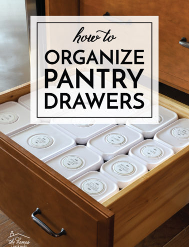 Organize Pantry Drawers