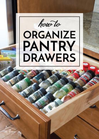 Organize Pantry Drawers