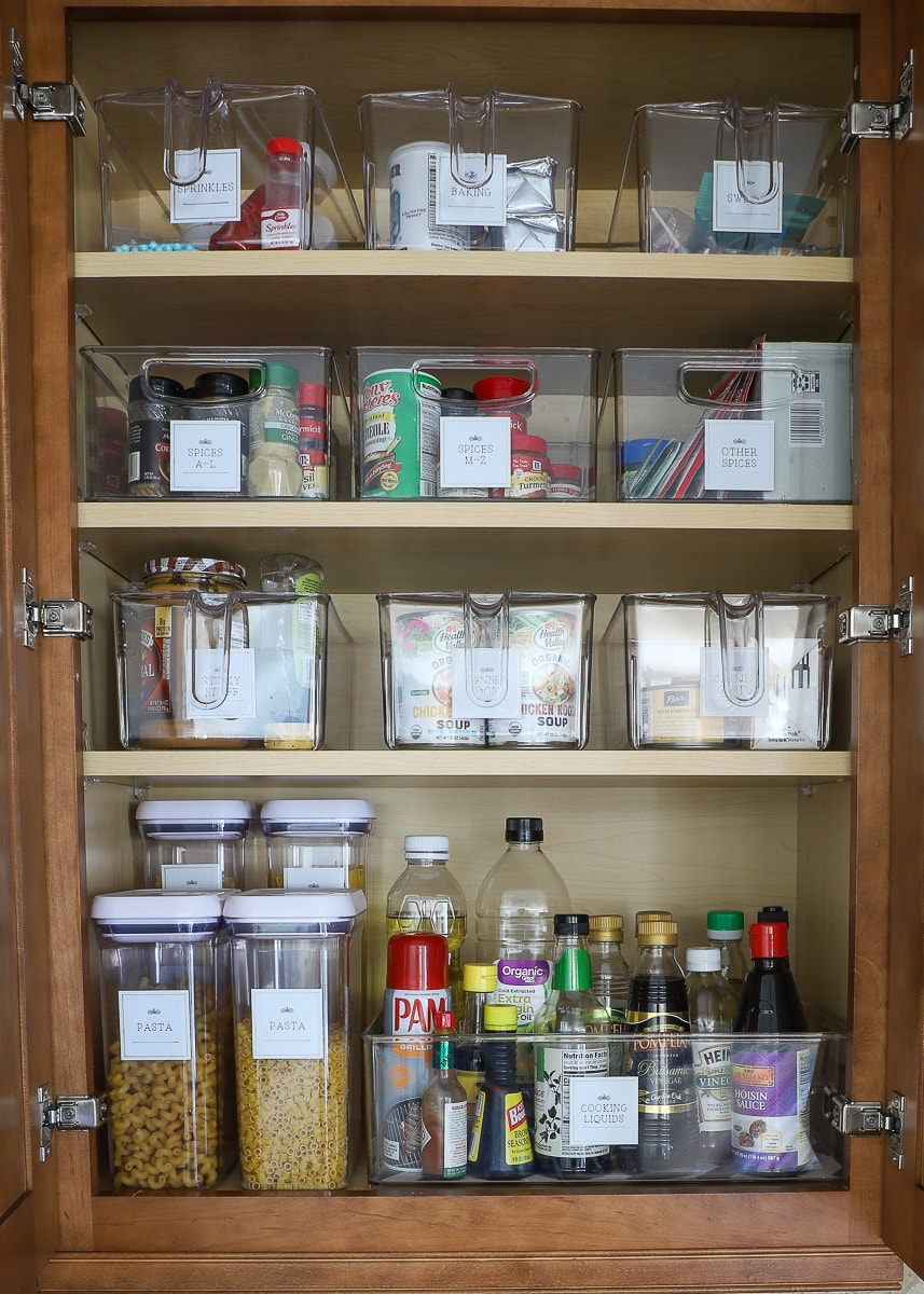 How To Use Kitchen Cabinets As A Pantry The Homes I Have Made