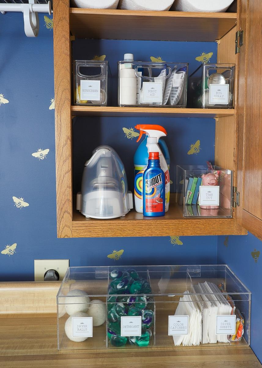 Organizing a Laundry Closet