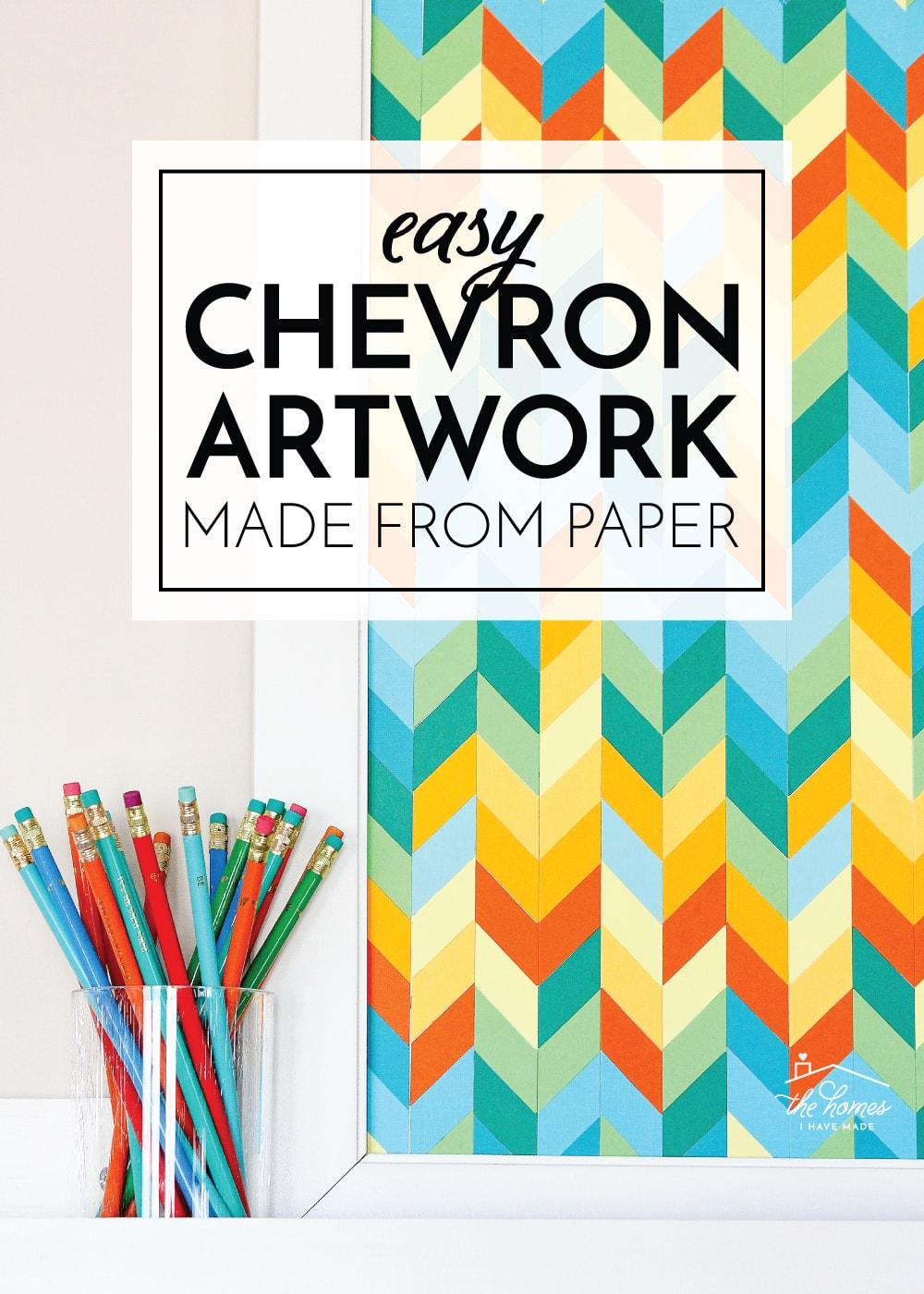 DIY Chevron Artwork