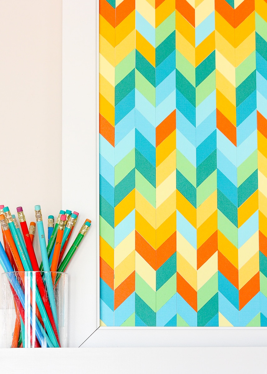 DIY Chevron Artwork