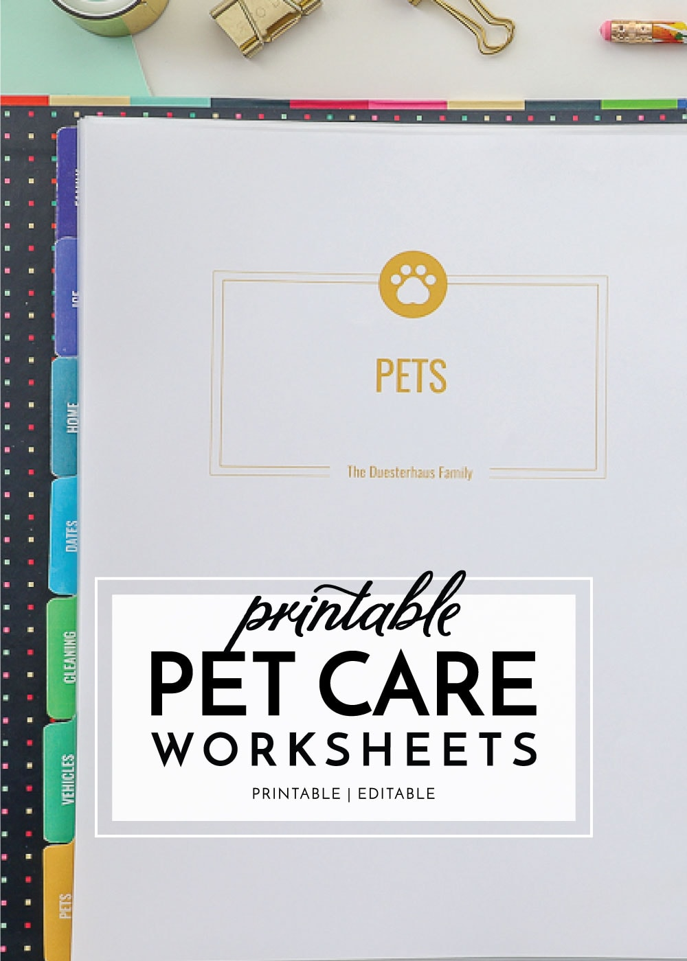Pet Care Printables