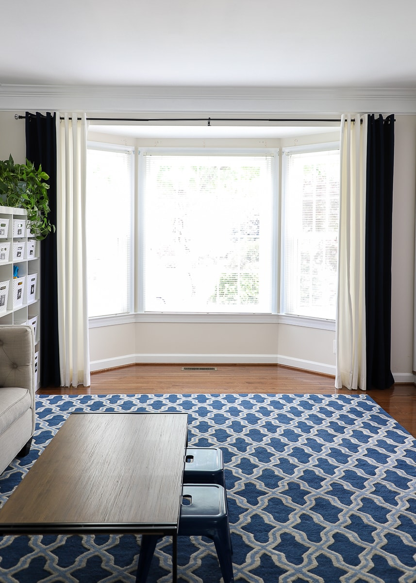 Curtain Ideas For Bay Windows And Other Strange Arrangements The Homes I Have Made